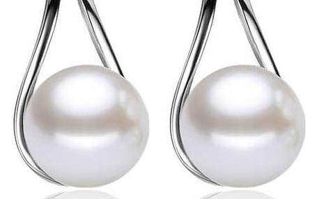 Náušnice s umělými perličkami