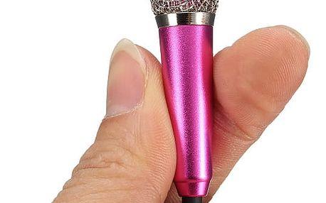 Mikrofon v mini provedení drátový - 4 barvy