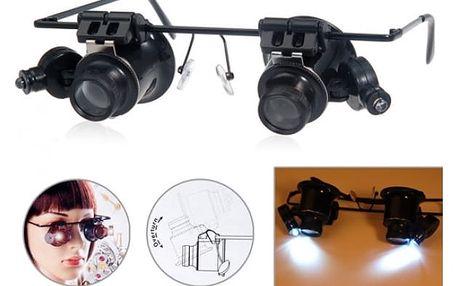 Zvětšovací brýle s 20x přiblížením - dodání do 2 dnů