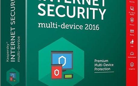Kaspersky Internet Security multi-device 2017 CZ, 1 zařízení, 2 roky - KL1941XCADS
