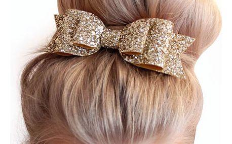 Třpytivá ozdoba do vlasů ve tvaru mašle
