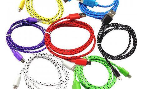 Datový a napájecí kabel USB/USB-C - různé barvy
