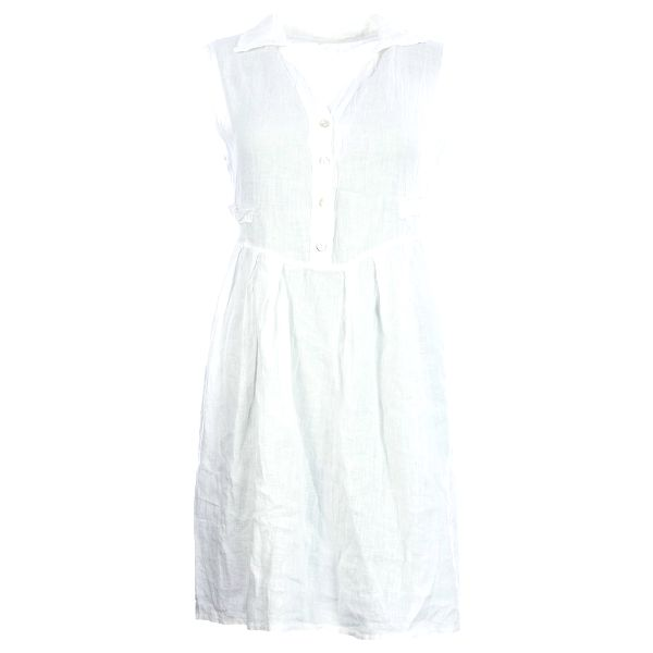 Dámské košilové šaty Lindsay Moda z přírodního lnu