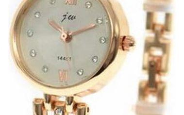 Dámské hodinky se úzkým páskem a kamínky
