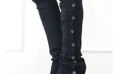 Teplé zimní návleky na nohy - černá - dodání do 2 dnů