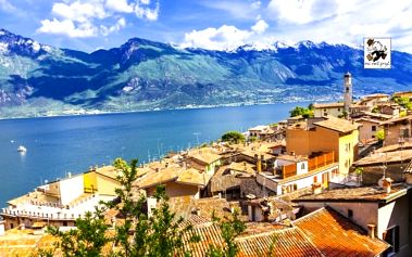 Lago di Garda s bazénem a wellness