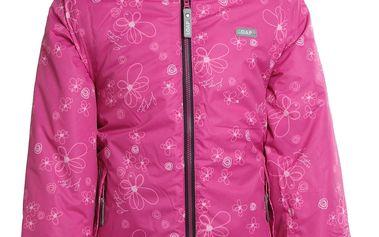 Dívčí lyžařská bundas reflexními prvky Loap vel. 7 - 8 let, 128 cm