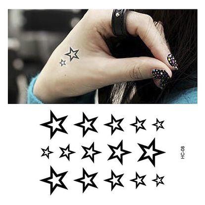 Dočasné tetovaní - hvězdičky - dodání do 2 dnů