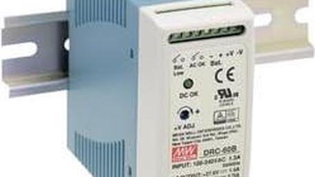 Síťový zdroj na DIN lištu Mean Well DRC-60A, 2 x 13.8 V/DC, 2.8 A, 59 W