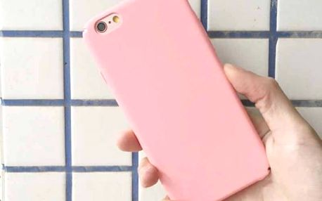 Jednoduchý barevný kryt pro iPhone - různé druhy