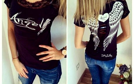 Tričko s andělskými křídly - dodání do 2 dnů