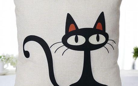 Povlak na polštář s kočičími motivy - dodání do 2 dnů