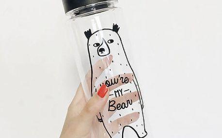 Plastová lahev s veselými motivy - 4 varianty