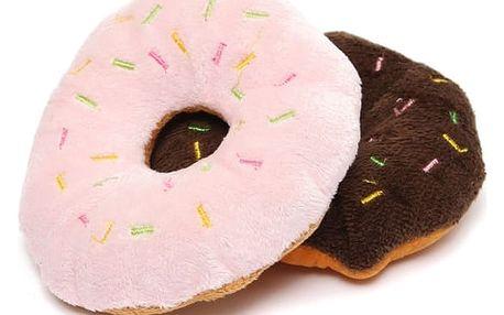 Pískací hračka pro psy - donut