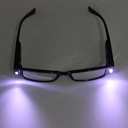 Dioptrické brýle na čtení s LED osvětlením