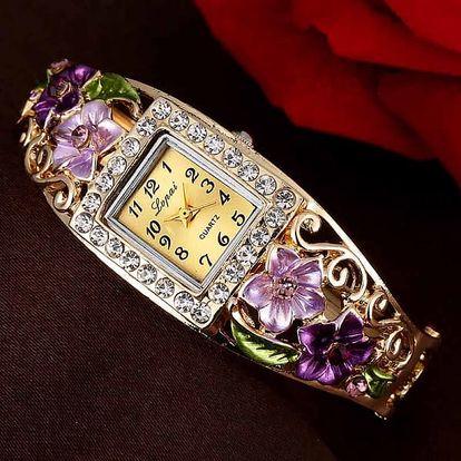 Dámské luxusní náramkové hodinky - 5 barev - fialová - dodání do 2 dnů