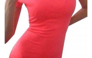 Strečové šaty s krátkým rukávem