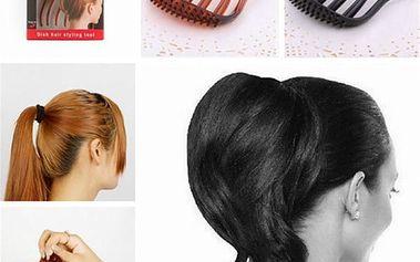 Hřebenová spona do vlasů pro objem - hnědá - dodání do 2 dnů