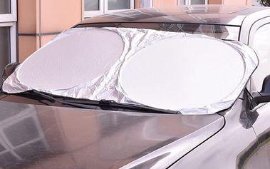 Skládací sluneční clona na čelní sklo - 135 x 60 cm