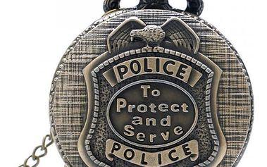 Vintage kapesních hodinek pro policisty