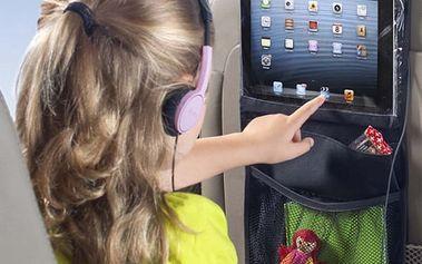 Organizér do auta s průzorem na tablet