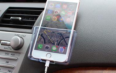 Průhledný držák na telefon do auta