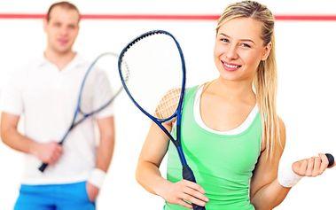 Hodina squashe či badmintonu pro dvě osoby