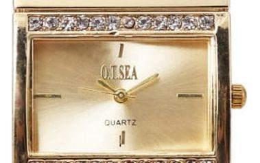 Dámské kovové hodinky s originálním páskem - 2 barvy