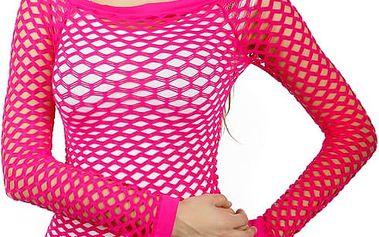Úžasné tričko z velkých oček tmavě růžová