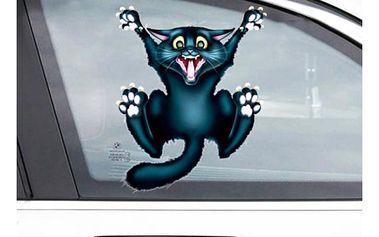 Samolepka na auto - Vyděšená kočička