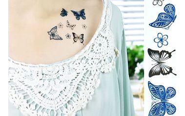 Dočasné tetování - Motýlci - dodání do 2 dnů