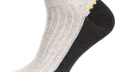 Pánské kotníkové ponožky šedá/černá