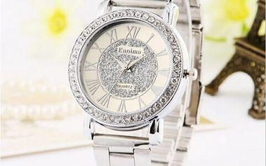 Kovové náramkové hodinky s bohatým zdobením - 3 barvy