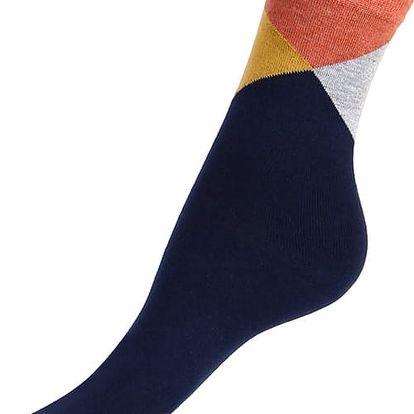 Veselé dámské ponožky tmavě modrá