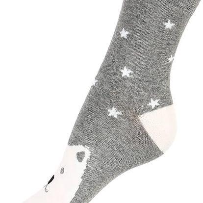 Dámské ponožky se zvířátky šedá
