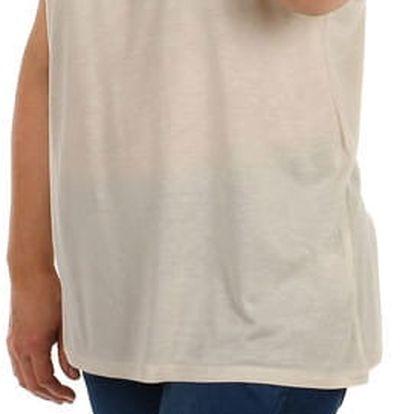 Jednobarevné tričko - velké velikosti béžová