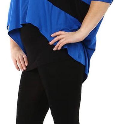 Oversized tričko v kombinaci s tílkem - i pro plnoštíhlé modrá