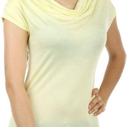 Krásné elegantní tričko světle žlutá