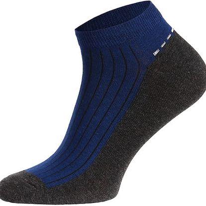 Pánské kotníkové ponožky modrá/černá
