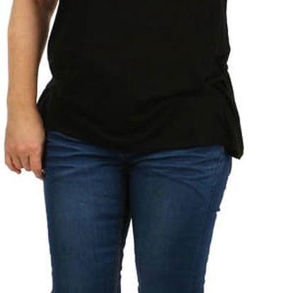 Jednobarevné tričko nadměrná velikost černá