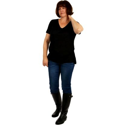 Jednobarevné tričko - velké velikosti černá