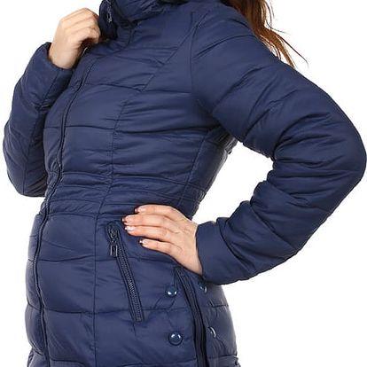 Dámská zimní bunda s ozdobnými patenty černá