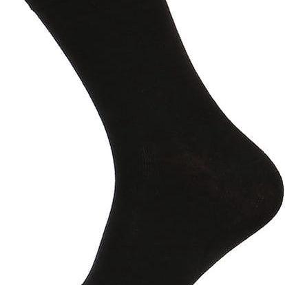 Pánské jednobarevné ponožky černá