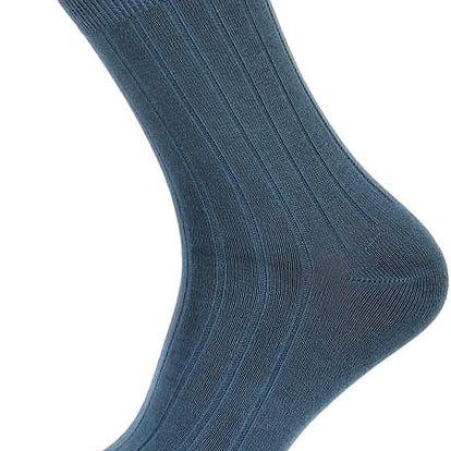 Pánské ponožky s pruhy modrá