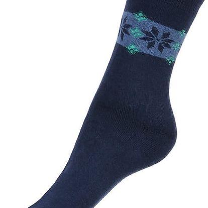 Thermo ponožky se vzorem tmavě modrá