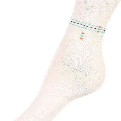 Dámské ponožky s proužkou bílá