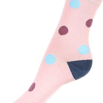 Bambusové ponožky s puntíky modrá