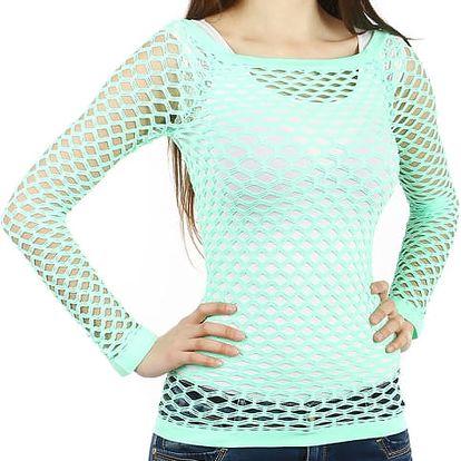 Úžasné tričko z velkých oček světle zelená
