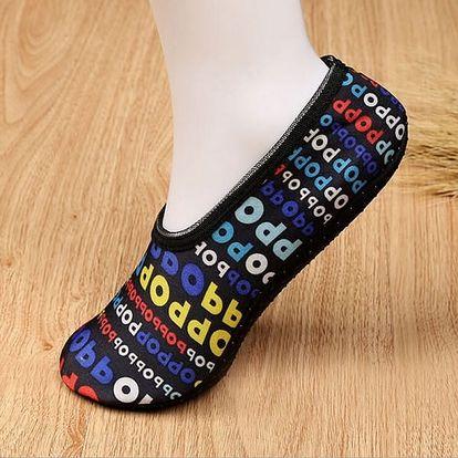 Protiskluzové jóga ponožky