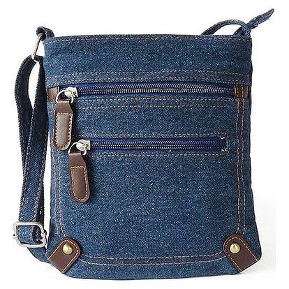 Dámská džínová kabelka v modré barvě